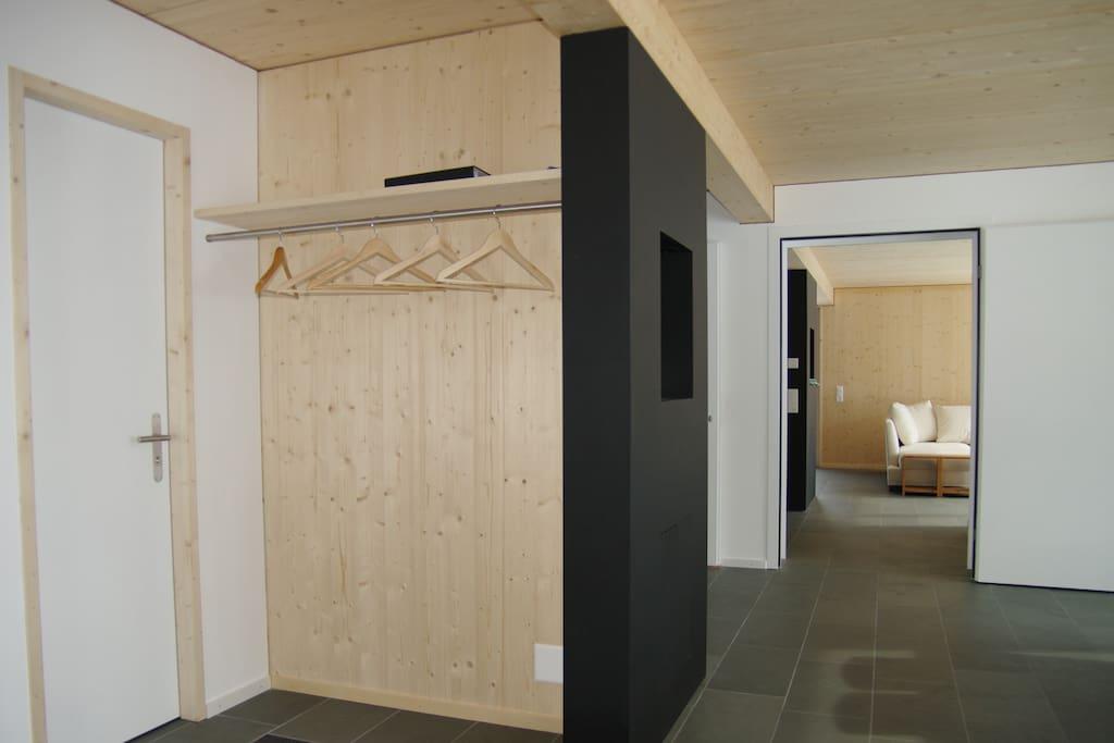 Garderobe, Wohnbereich