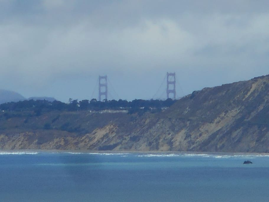 #3.) Picture taken of The 2 Twin Ladders (TOWERS); they will get you to the Top of the Golden Gate Bridge. Picture taken from the windows of our House