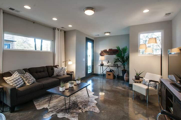 Enjoy the luxurious decor in the downstairs living space.