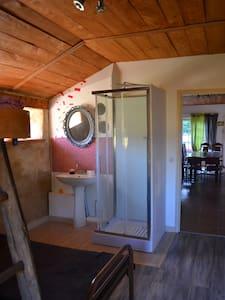chambre avec douche lavabo,wc - Lanvénégen