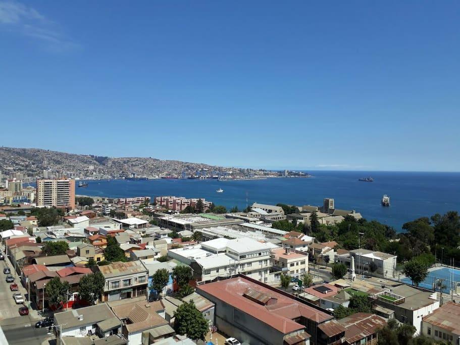 Vista Panorámica hacia Valparaiso
