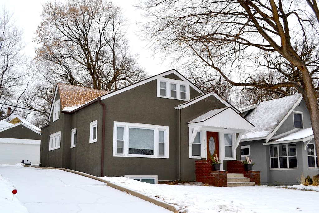 Our South Minneapolis winter bungalow