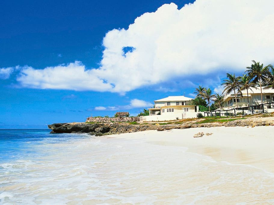 View at the Inchcape Seaside Villas from Silver Sands Beach