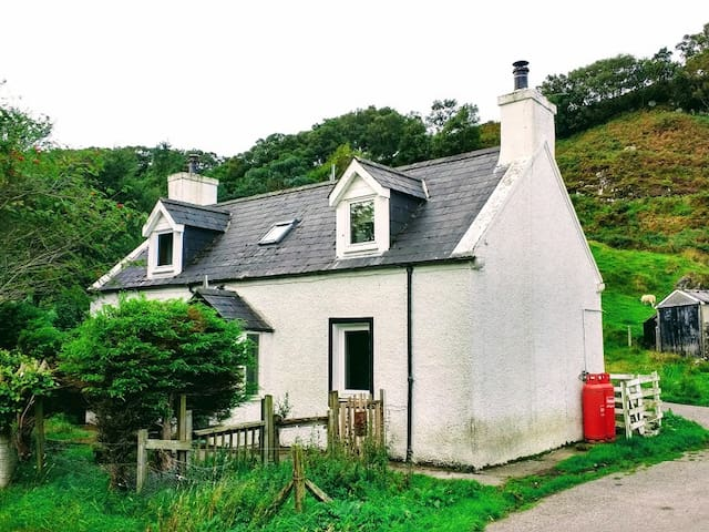 authentic croft house with garden