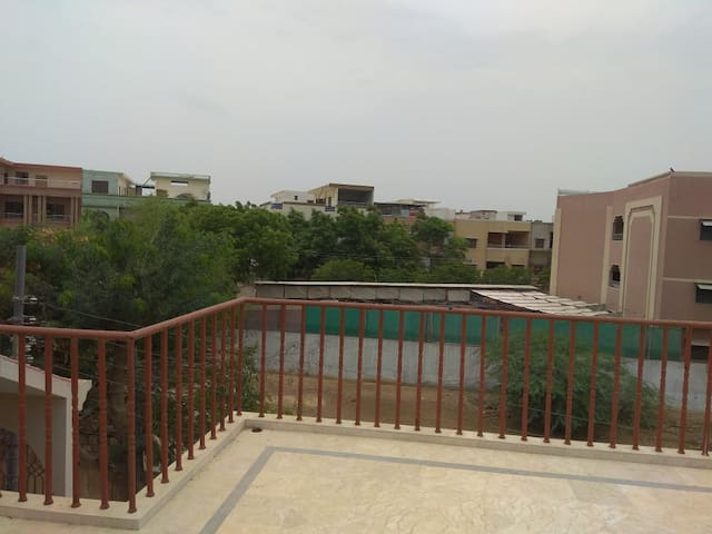 View from terrace outside