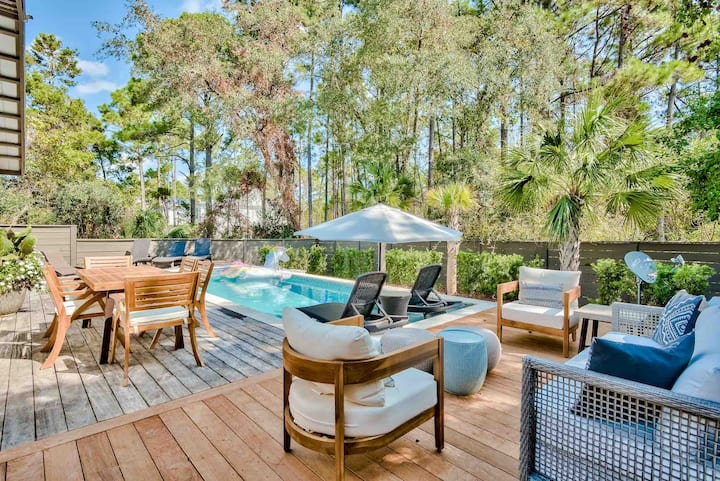 Mi Casa with HEATED pool in the heart of Seagrove!
