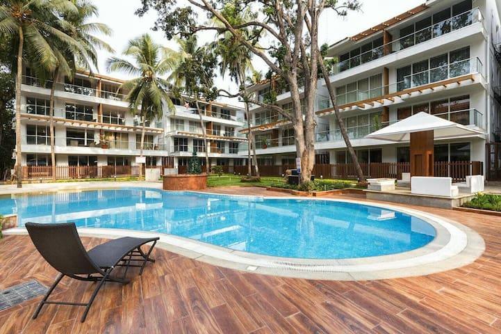 Calangute Beach Goa 5 * 2,2 and 1 Bedroom Apt - Calangute - Apartamento