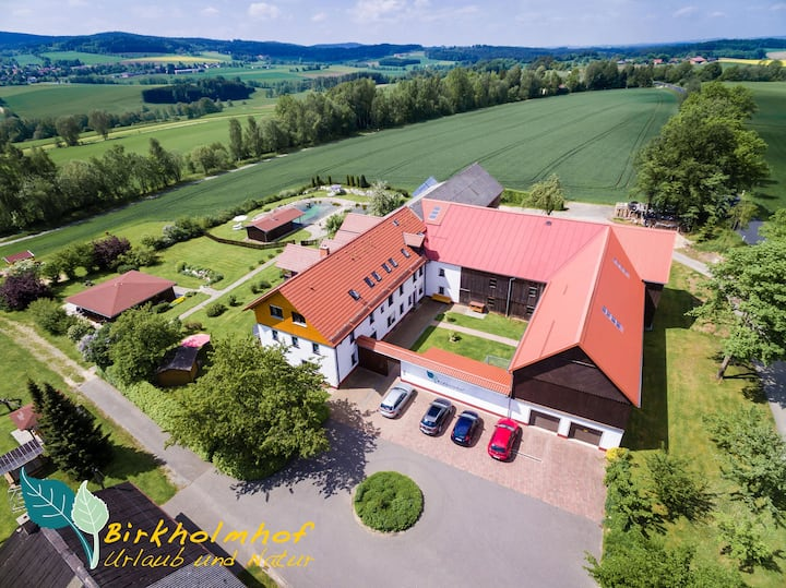 Ferienhof mit Naturpool, Sauna, Kneipp, Fahrrädern