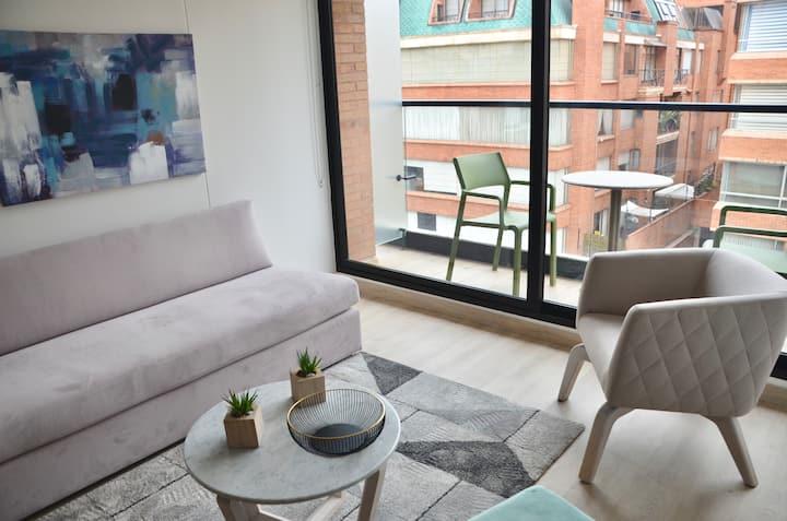 NUEVO deluxe loft 2 hab. con balcón 5 min 93