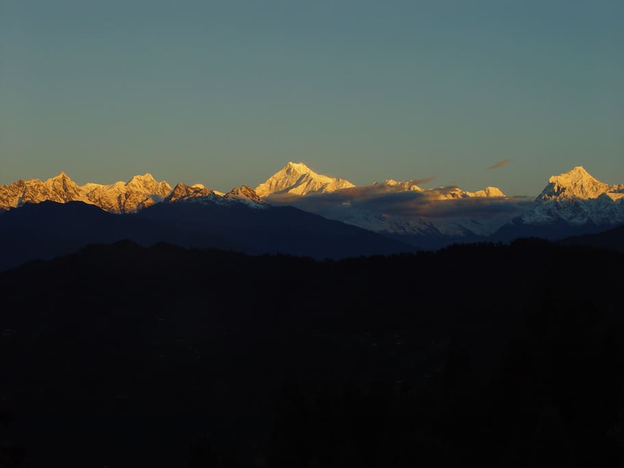Picturesque view of mystic Kanchenjunga