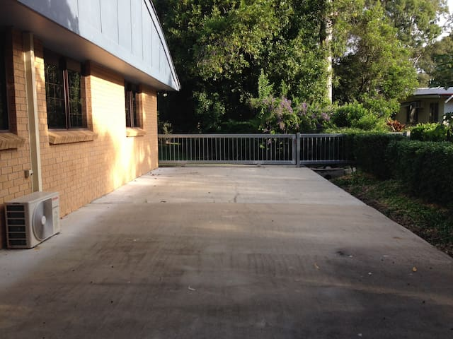 Concrete pad to park caravan or boat (when pad is available).