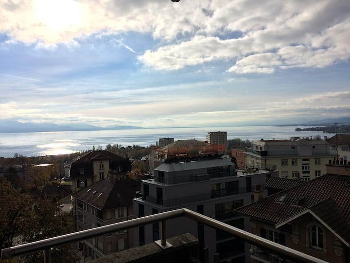 Apartment @Lausanne, lake view, great location!