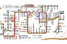 『2』台南火車站前站(南站)—約7站—>四份子站—>步行約3分鐘