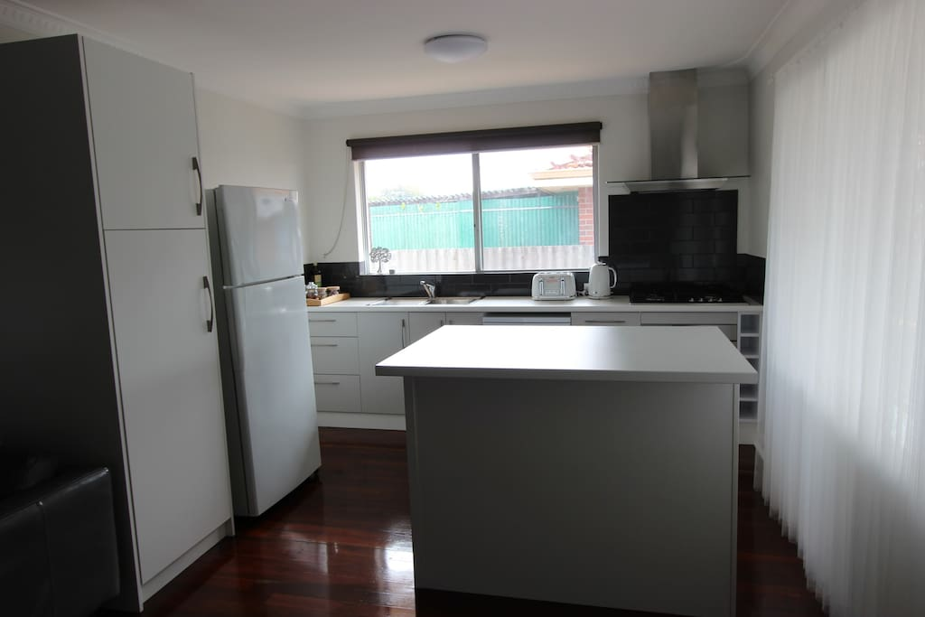 Large kitchen with all you need for the inner chief experience
