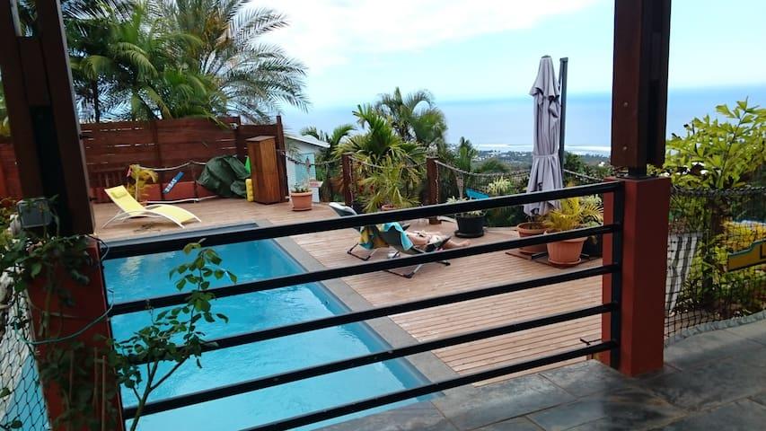 Villa piscine vue mer exceptionnelle - Saint Pierre - Villa