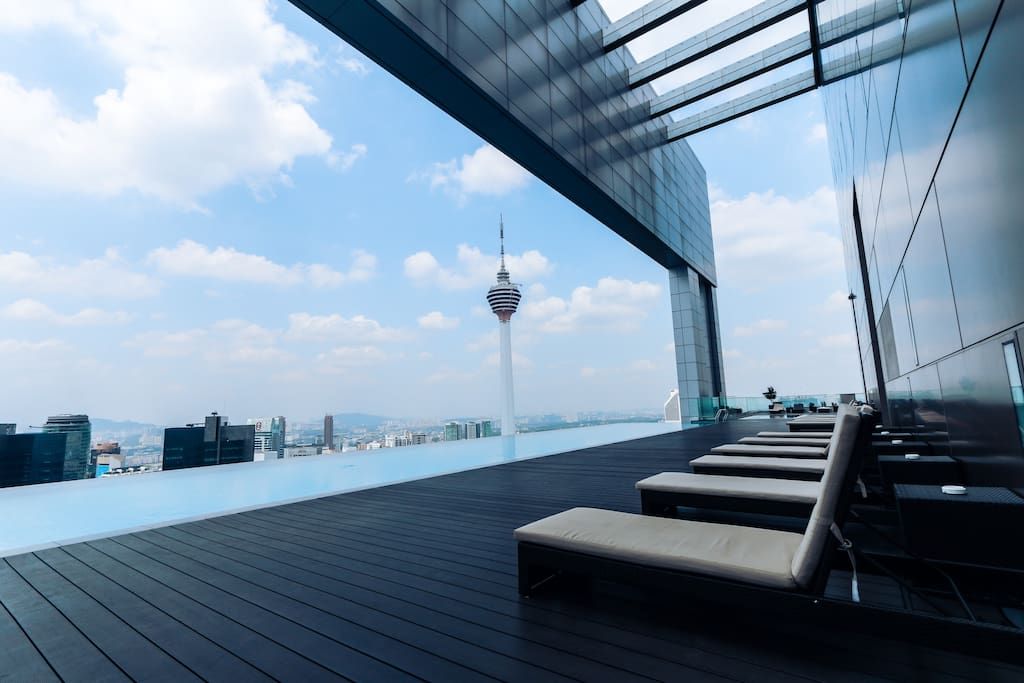 Just sit back and relax while enjoying the view with the kl tower and twin towers right infront of you