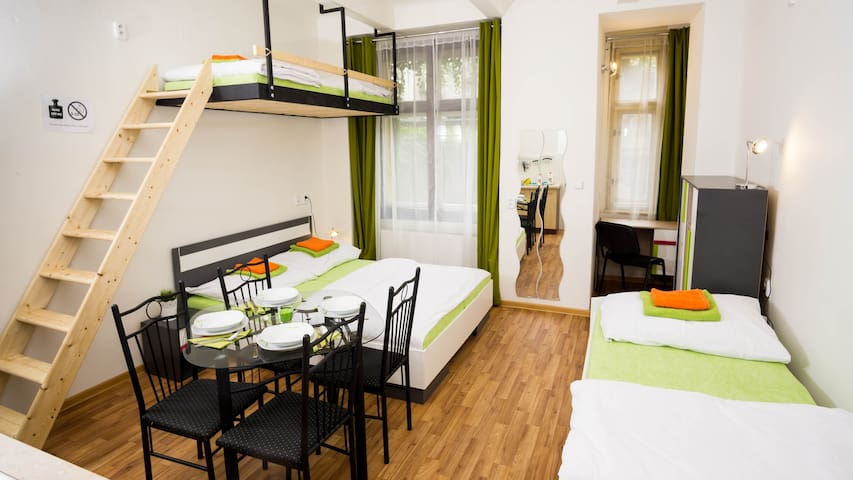 Up to 5 people, close to Prague castle and Airport