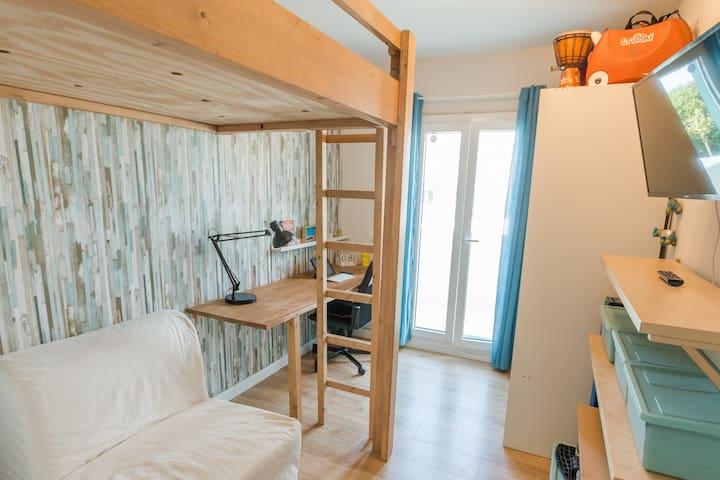 Dormitorio 3 - Esta habitacion tiene actualmente una cama doble