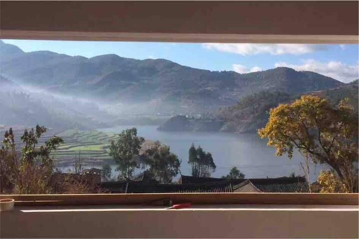 【观山禅院】大理巍山湖景复式套房-体验田园生活,最佳修心之地