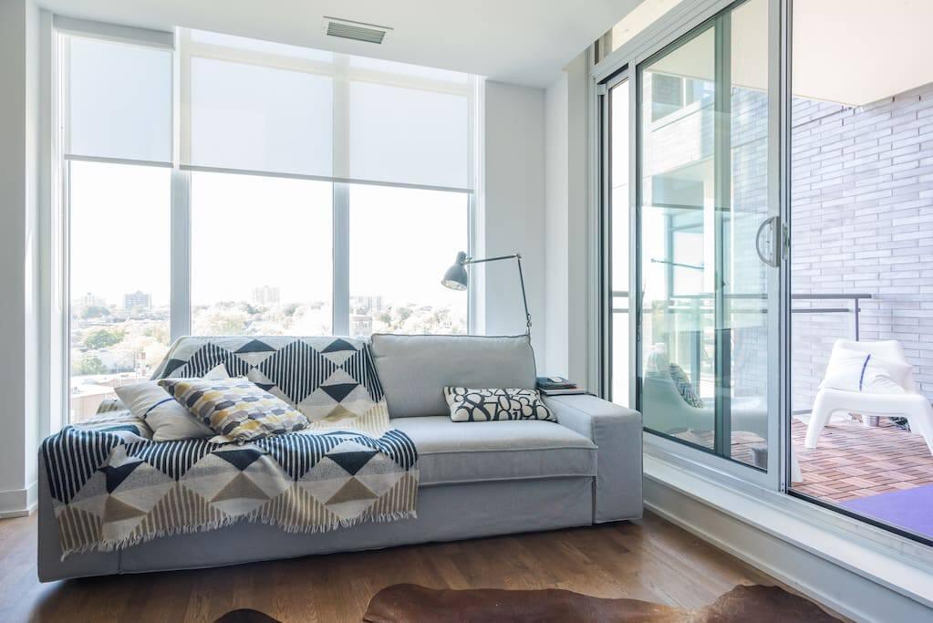 Beautiful Living Room in Queen Street West