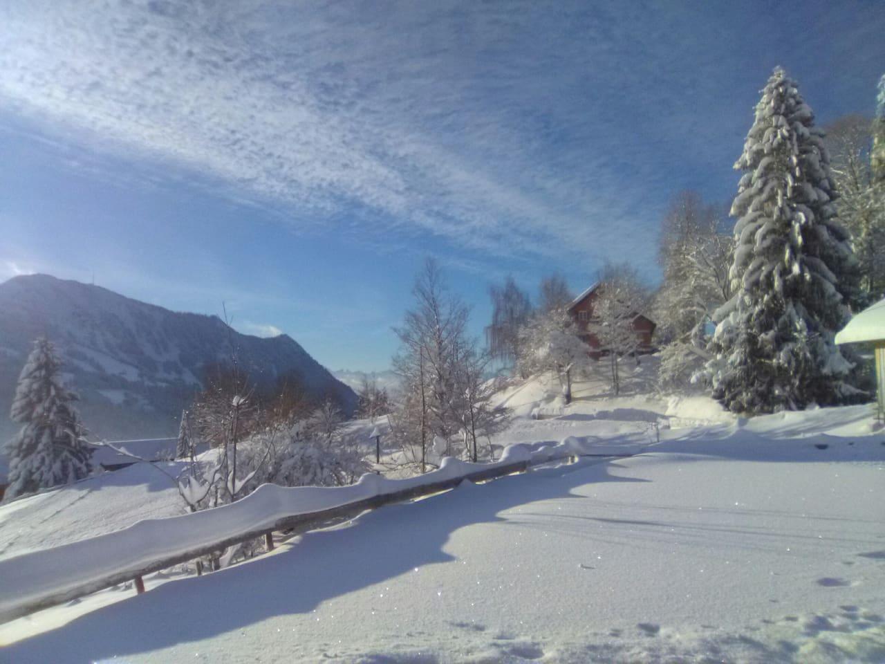 Unser alter Bergbauernhof liegt wunderbar ruhig auf dem Rottachberg, bietet einen herrlichen Blick, urige Gemütlichkeit mit Holzofen und viele Wandermöglichkeiten ( auch mit Schneeschuhen) vom Haus aus.