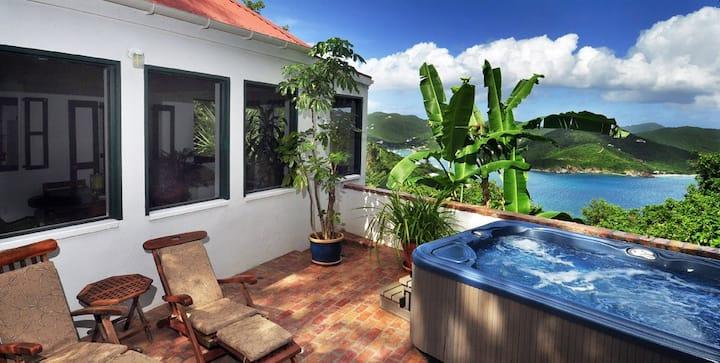 Windwardside Main House Spa, view, tropical garden