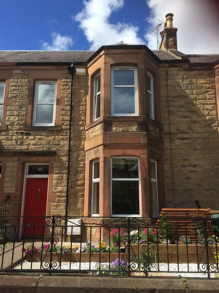 Spacious terraced house, on fringe of city centre.