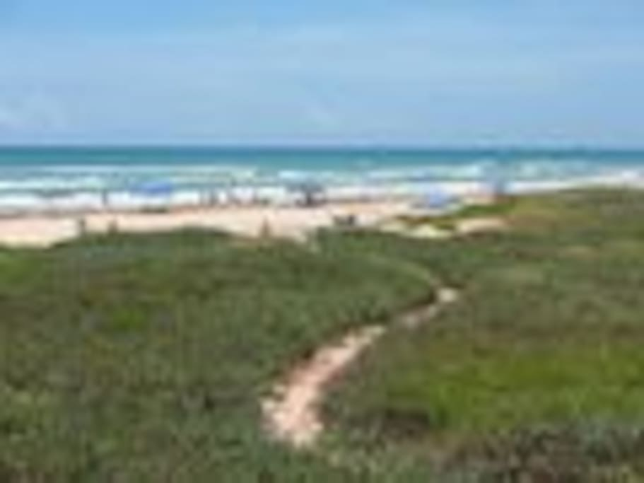Private path to the beach