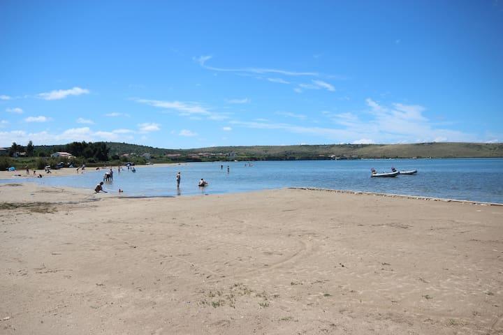 Sandy beach in Ljubac