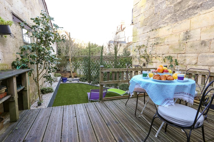 Ravissante échoppe bordelaise-Jardin-Climatisation
