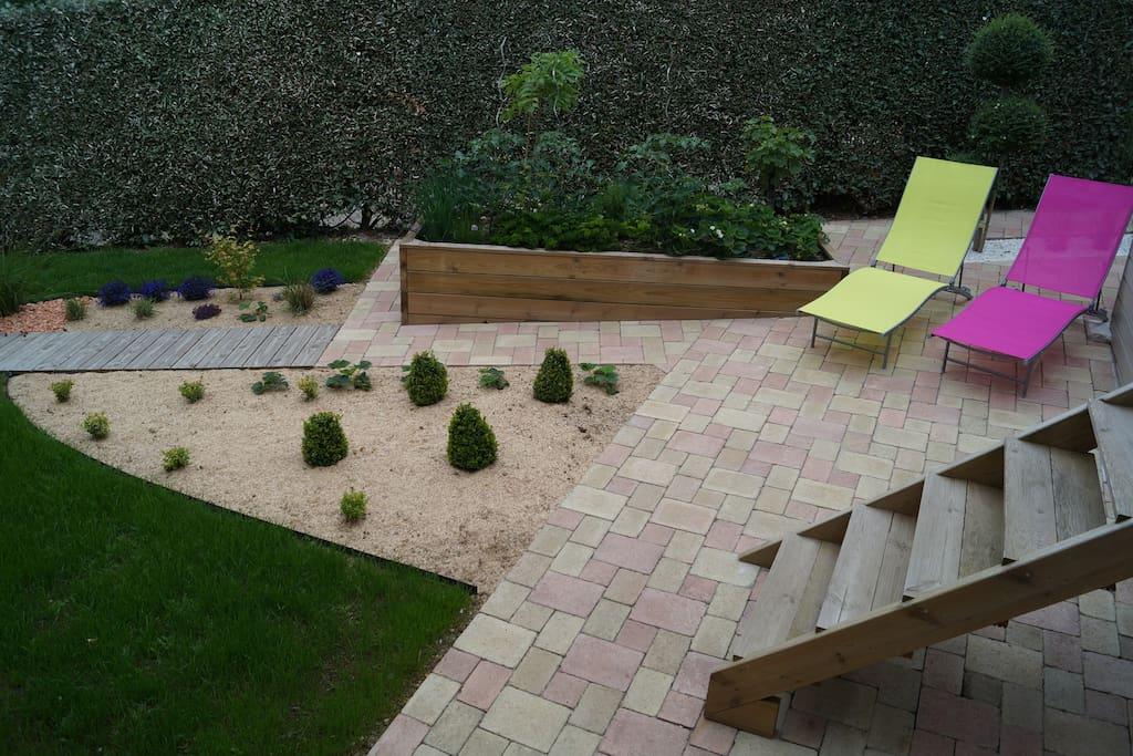 jardin, terrasse, potager