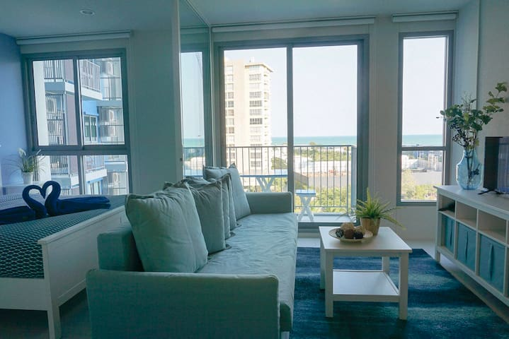 Sanddollar3 Blu Condo. 1BR Apartment with Seaview