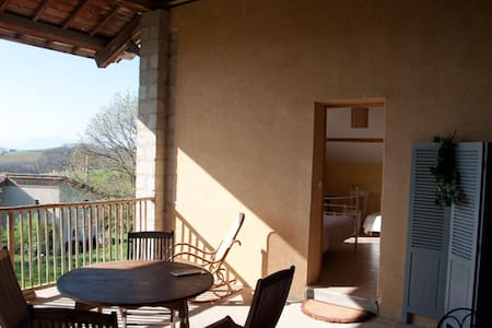 chambre vercors - Saint-Antoine-l'Abbaye - Oda + Kahvaltı