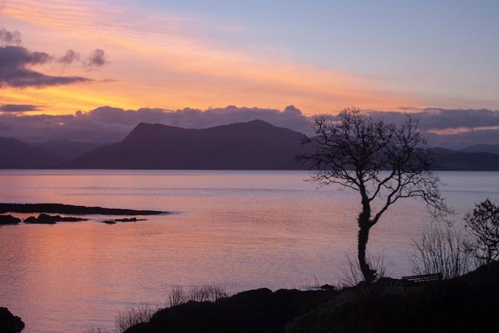 Sunrise over the Sound of Sleat from the Shore