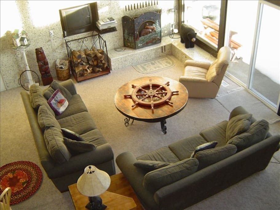 Living Room as looking from loft above