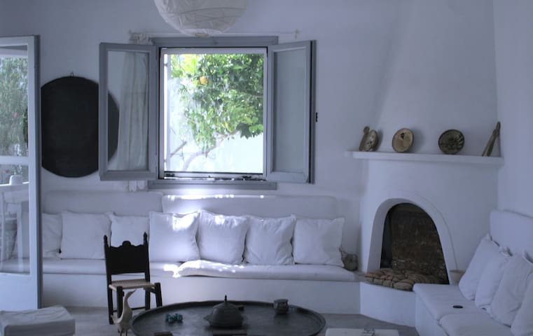 House 2' from beach+large garden! - Skyros - Rumah