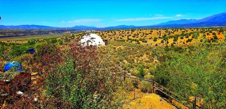 Namaste, a large gorgeous geodesic glamping dome