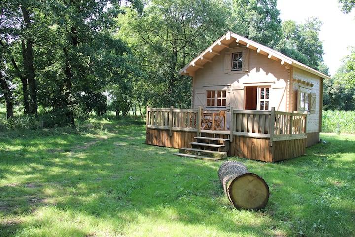Location Chalet de 20m² dans les bois avec piscine