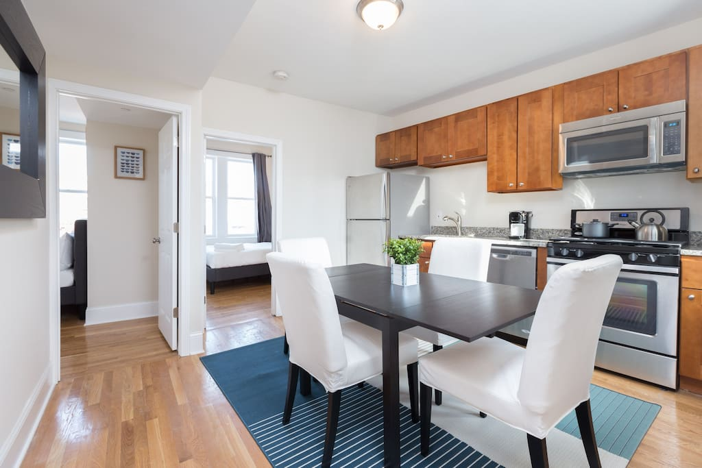 3 BR apartment located in North End, surrounded by national renowned restaurants and bars