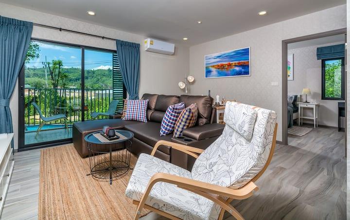 Beautiful Pool View Apartment @Nai Yang beach–250m
