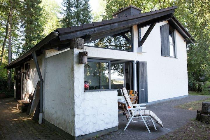 Vrijstaand vakantiehuis met piano, mooi gelegen aan de rand van het bos