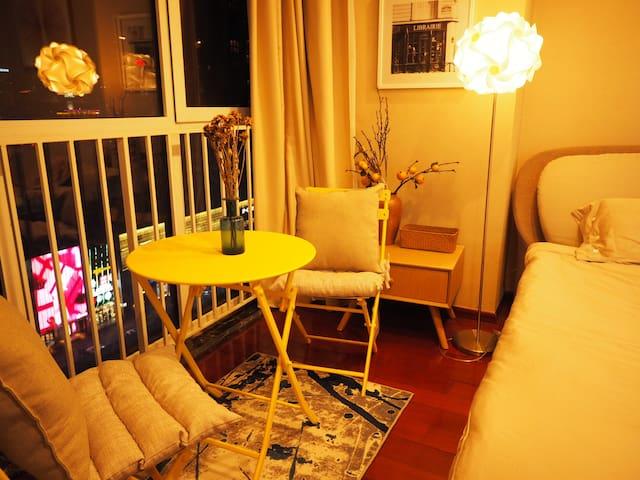 【时光集】三里屯工体对面的时尚温馨公寓,超高层,视野超级开阔,夜景超棒,空气净化器/加湿器一应俱全