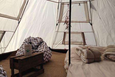 Tente Tipee a Breizh'iles. Entre Auray et Vannes - Pluneret - Khemah