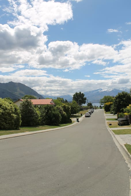 View from Street down to Lake
