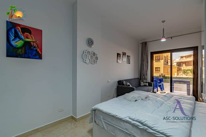 Brand new studio with private beach and 2  pools