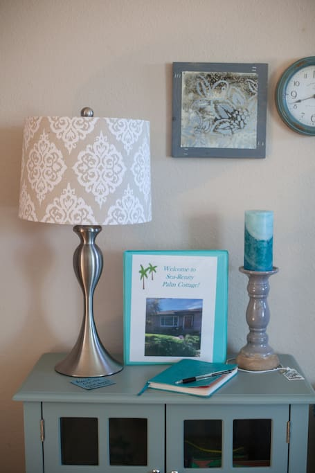 Welcome to your Sea Serenity Palm Cottage Getaway! The welcome binder has all the details of the home amenities. Please remember to share highlights of your visit with future guests.
