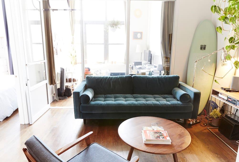 Living Room + Office room behind