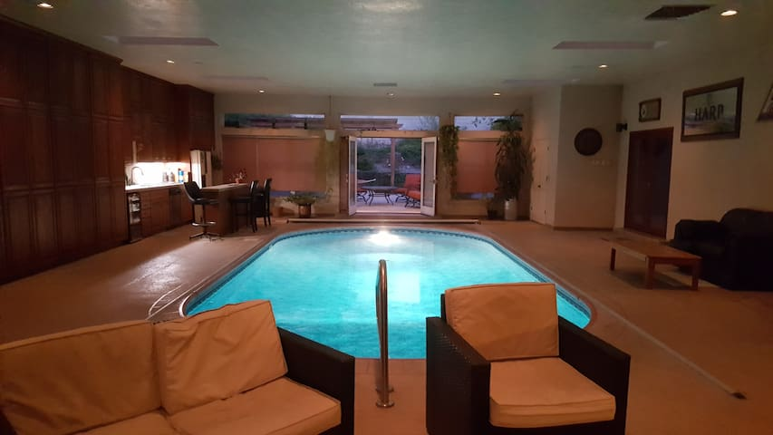 Indoor pool and hot tub  5000 sq ft Foothills Home w/ Indoor Pool & Hot Tub - Vacation ...
