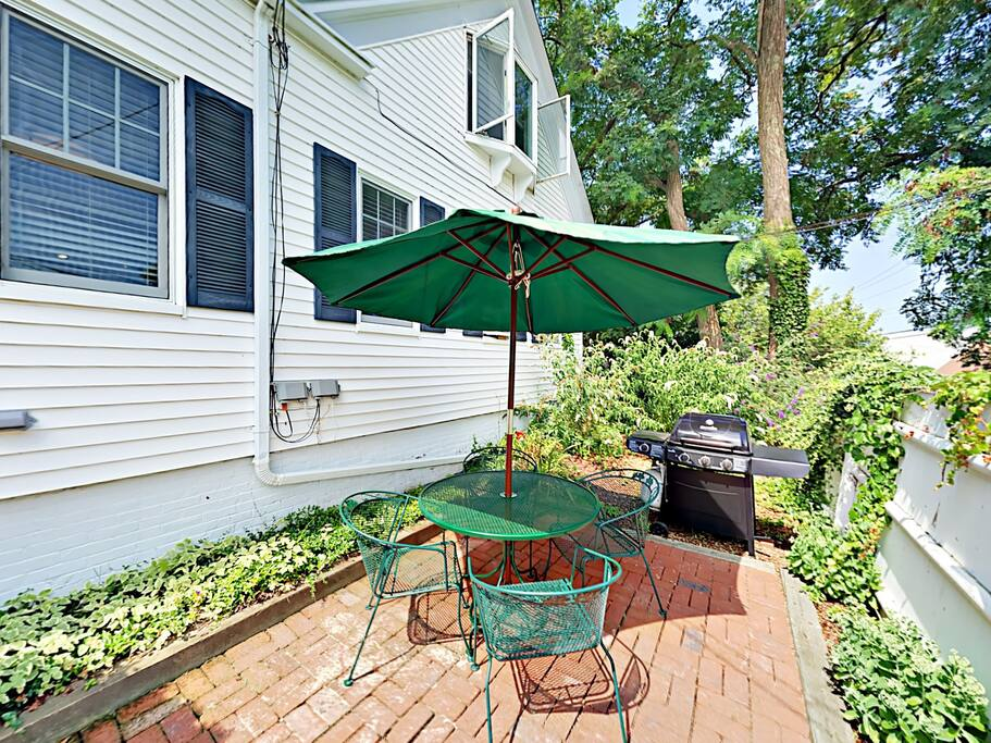 Use the grill on the patio to make your favorite meal, then dine alfresco at the outdoor table.