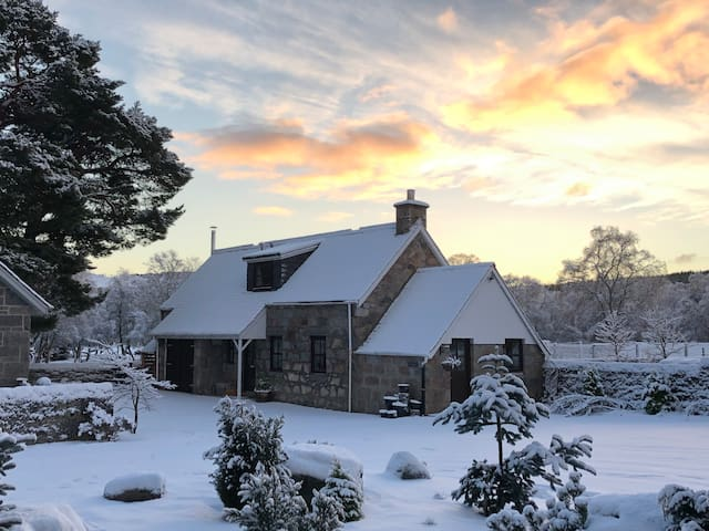 The cottage in winter - we are just 20mins from the Glenshee ski centre